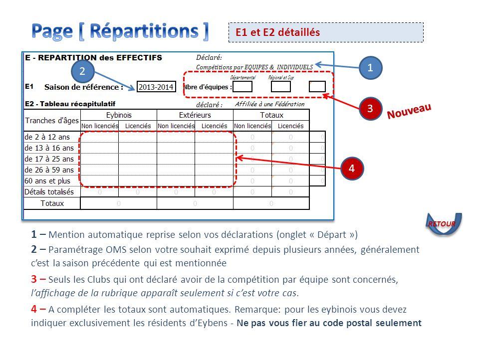 Page [ Répartitions ] E1 et E2 détaillés 1 2 3 Nouveau 4